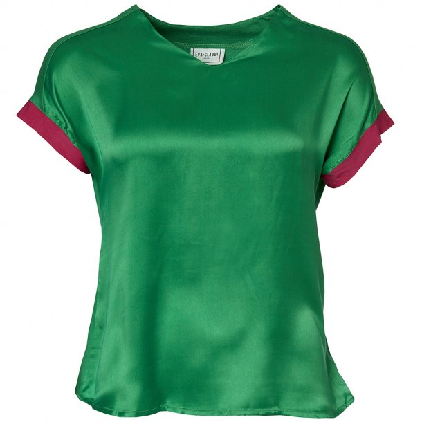BLUSE m. SILKEFRONT